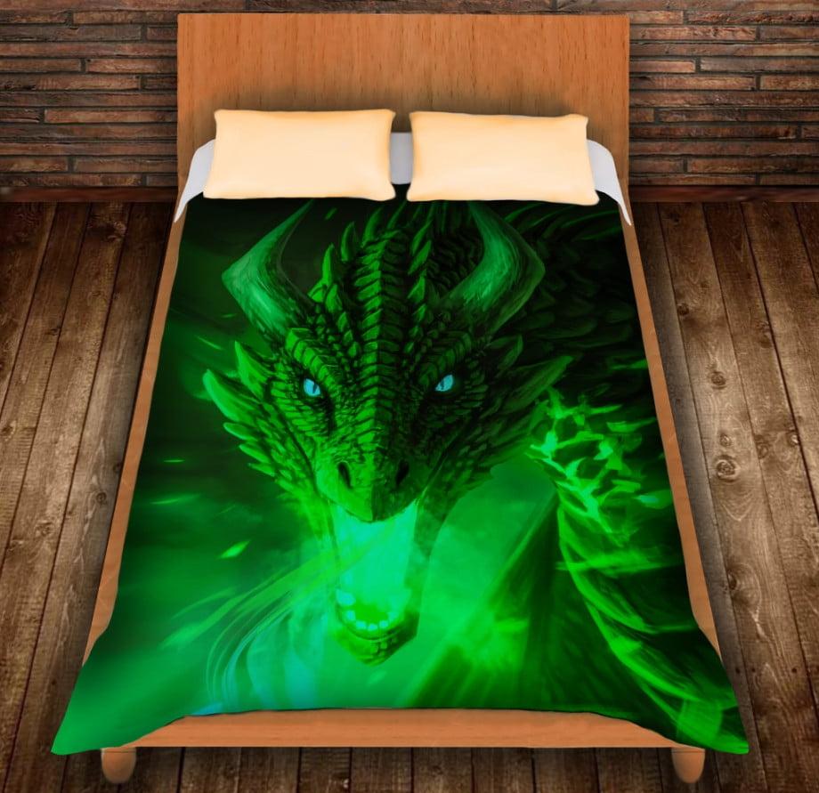 Плед з 3D принтом - Зелений Дракон