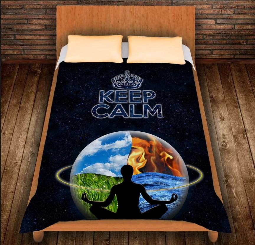 Плед з 3D принтом - Кіп Келм/Keep Calm