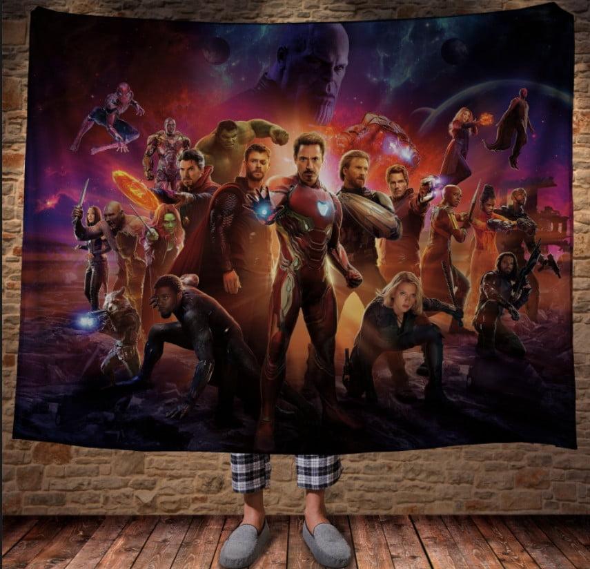 Плед з 3D принтом - Mесники Avengers