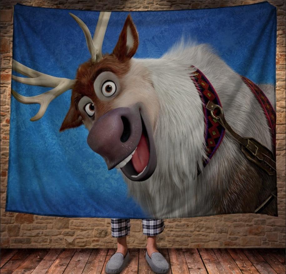 Плед з 3D принтом - Олень Свен Frozen