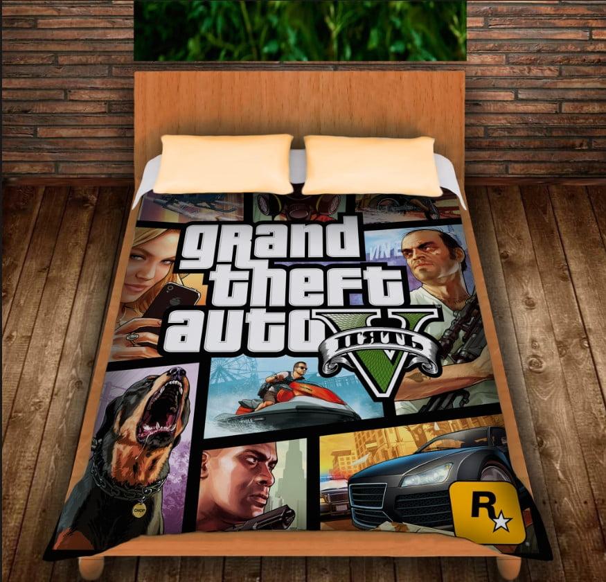 Плед з 3D принтом -Grand Theft Auto 5