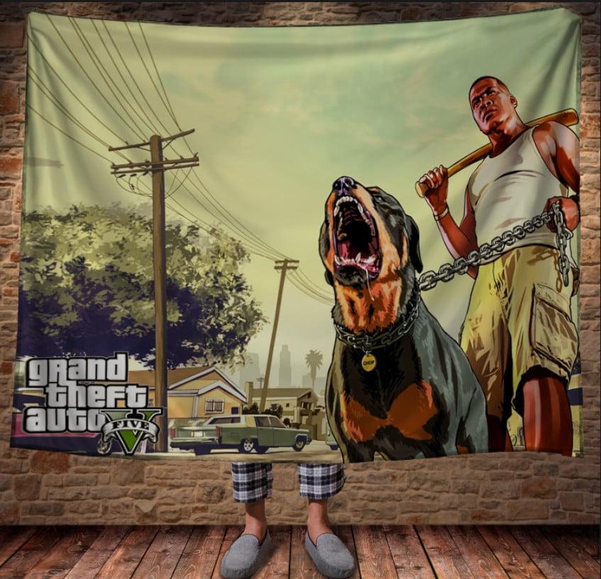 Плед з 3D принтом -Grand Theft Auto