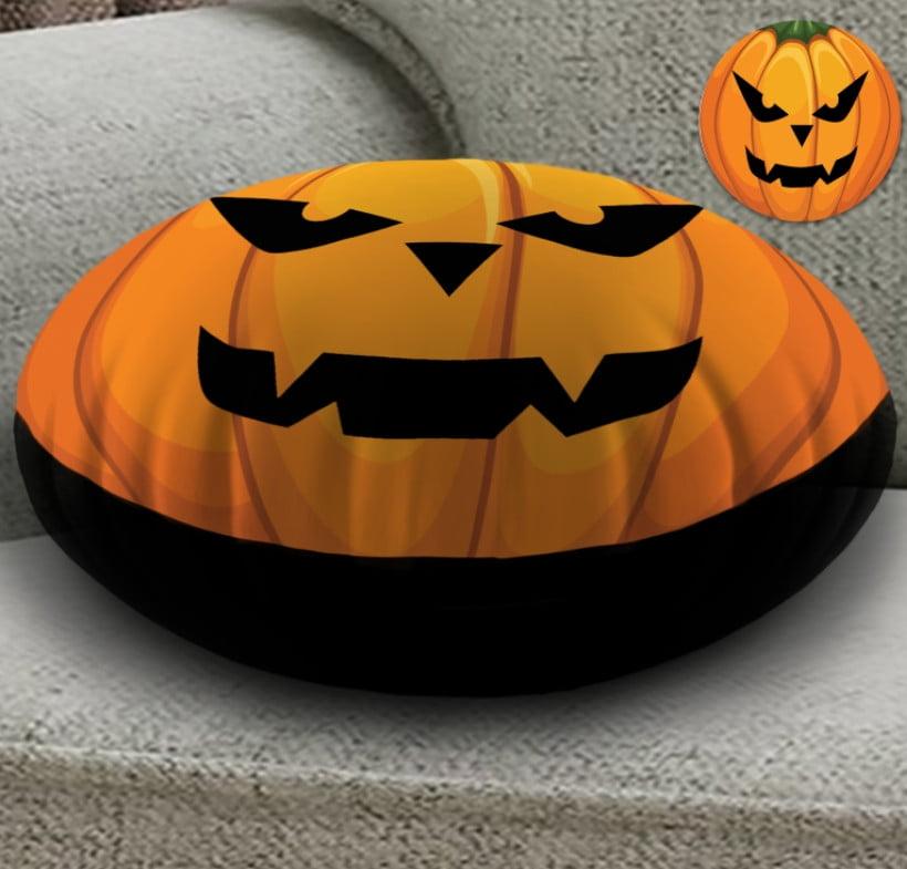 Кругла подушка- пуфік з 3D принтом Helloween fase