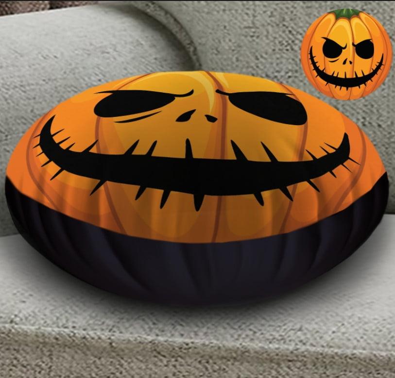 Кругла подушка- пуфік з 3D принтом Helloween fase 3