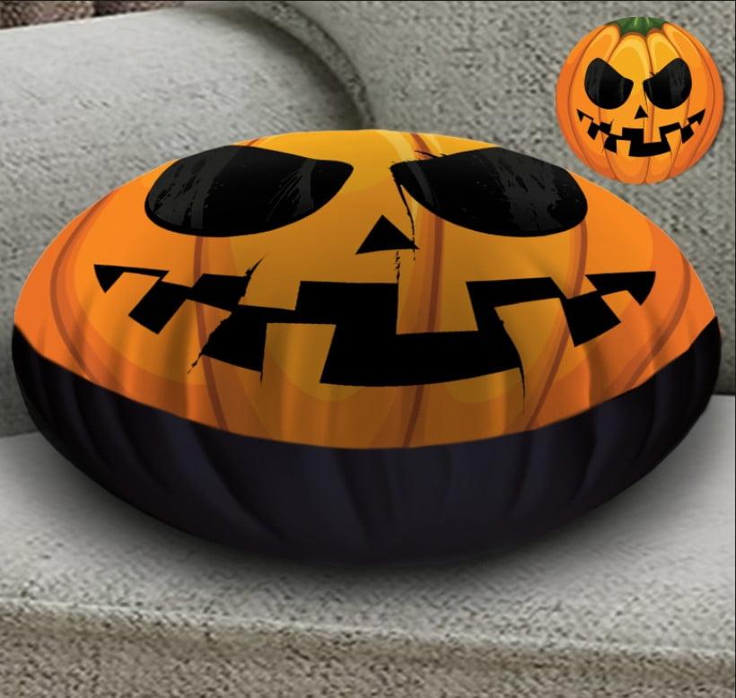 Кругла подушка- пуфік з 3D принтом Helloween fase 4