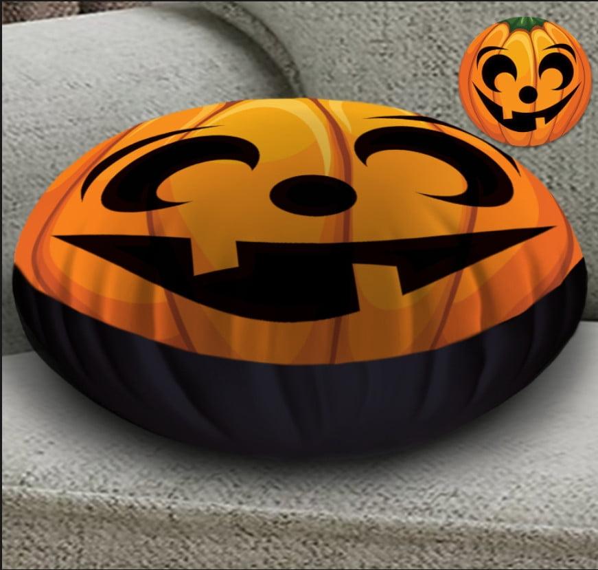 Кругла подушка- пуфік з 3D принтом Helloween fase 5