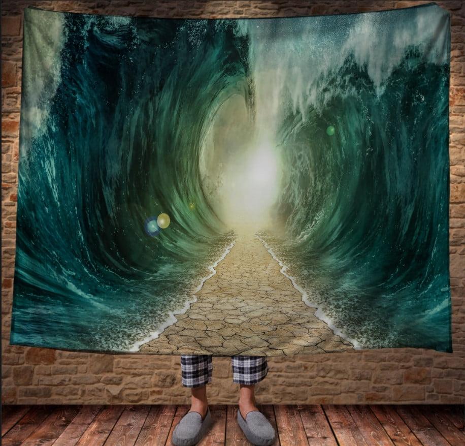 Плед з 3D принтом -Дорога між хвиль по дну океана