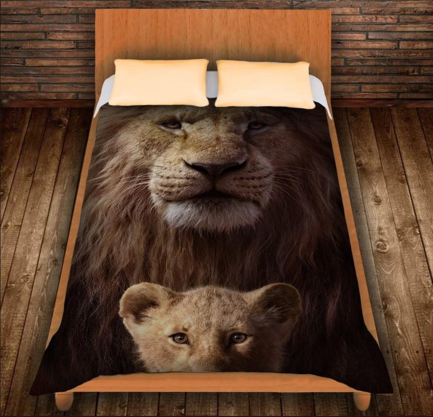 Плед з 3D принтом -Сімба і Муфаса. Король Лев