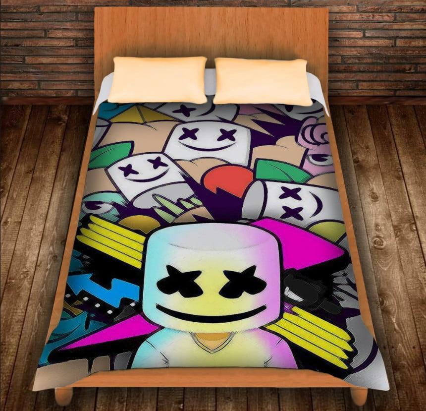 Плед з 3D принтом - DJ Marshmello Comics