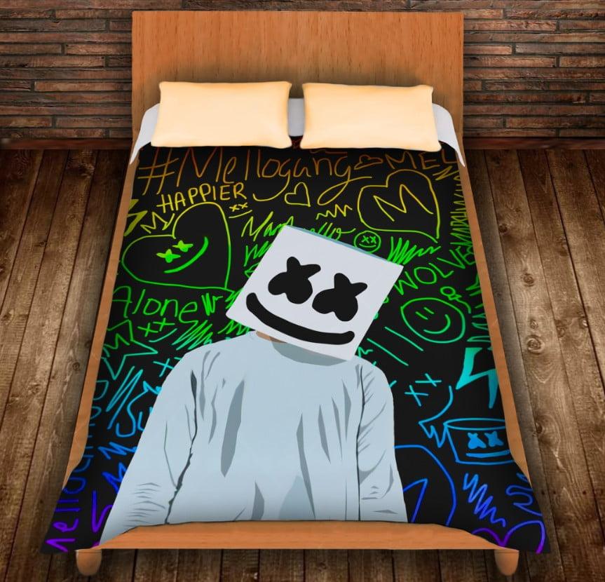 Плед з 3D принтом - DJ Marshmello Fan