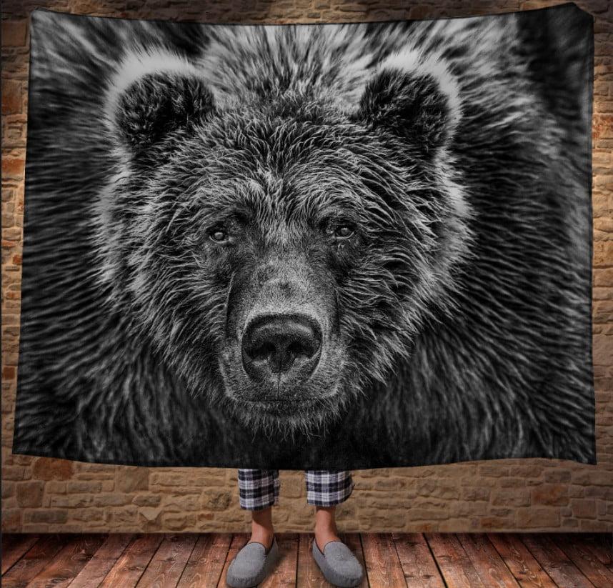Плед з 3D принтом - Ведмідь Графіка