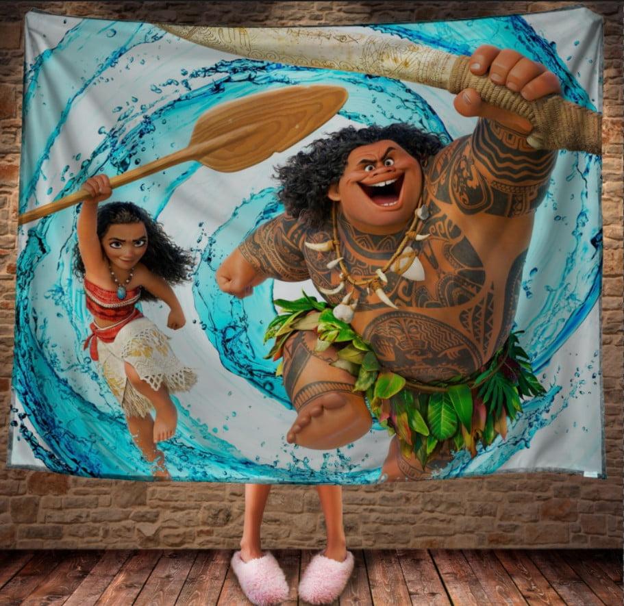 Плед з 3D принтом -  Moana and Maui. Вперед