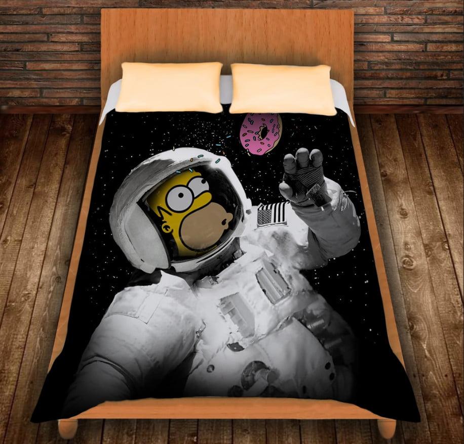Плед з 3D принтом - Гомер у космосі