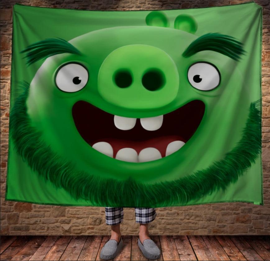 Плед з 3D принтом - Angry Birds Mr.Pig