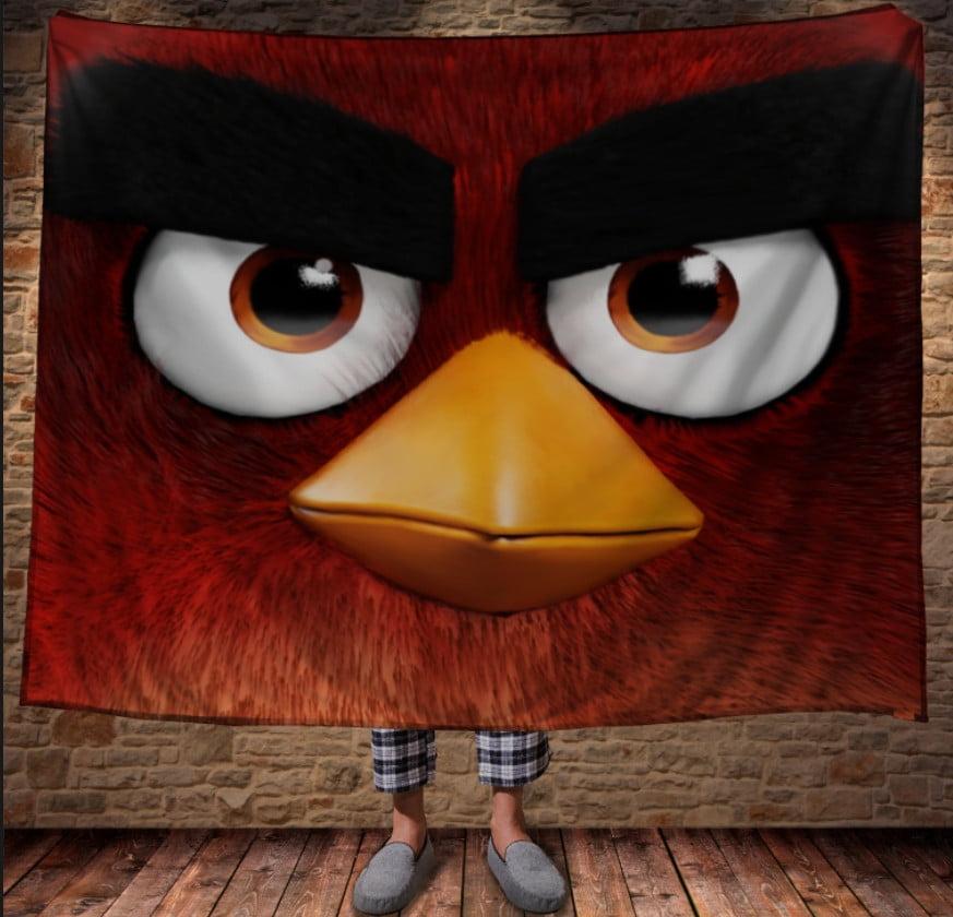 Плед з 3D принтом -Angry Birds Red
