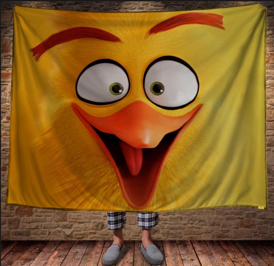Плед з 3D принтом -Angry Birds Chak