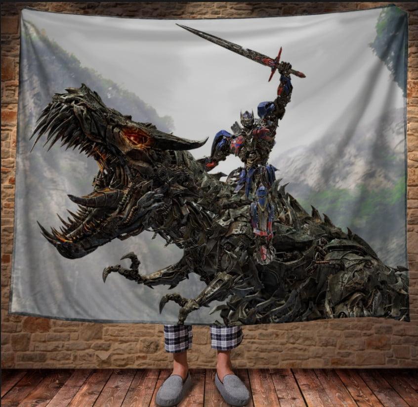 Плед з 3D принтом - Оптимус Прайм з мечем