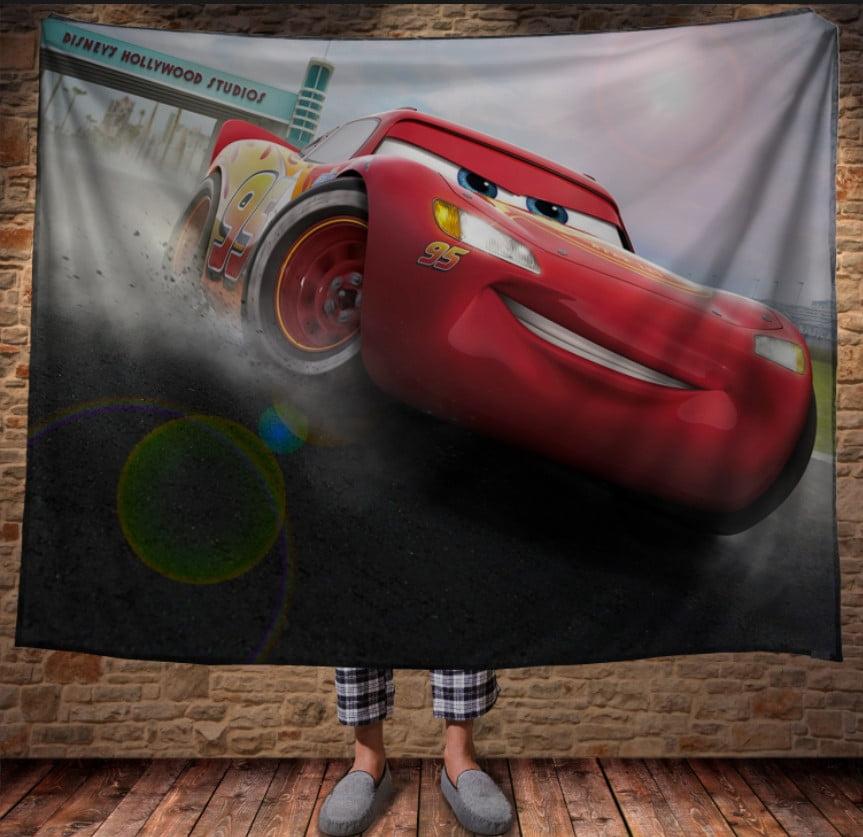 Плед з 3D принтом - Cars Тачки Маквін Дрифт