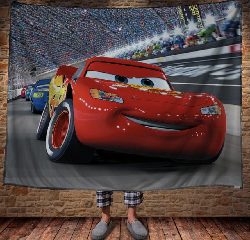 Плед з 3D принтом - Cars Тачки Маквін гонки по колу