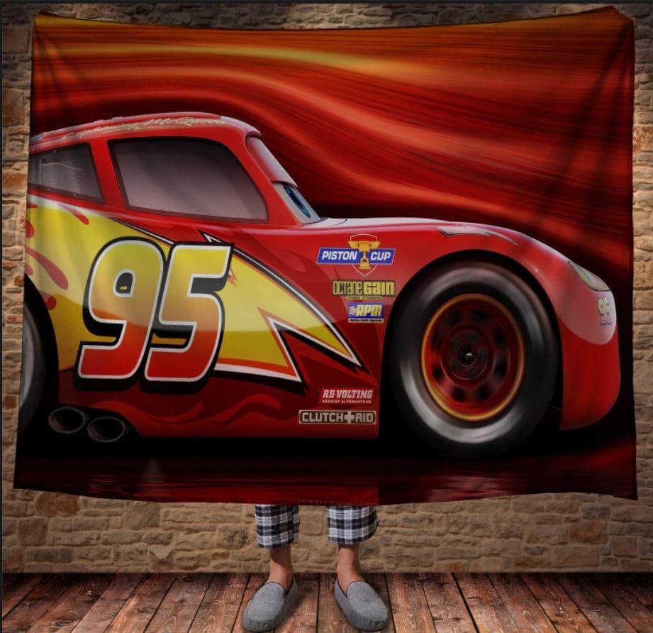 Плед з 3D принтом - Cars Тачки Маквін постер