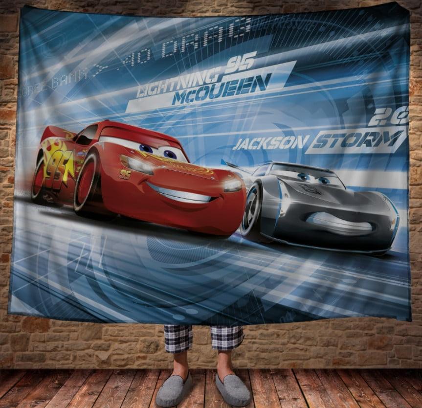 Плед з 3D принтом - Cars Тачки Блискавка Маквін та Джексон Шторм