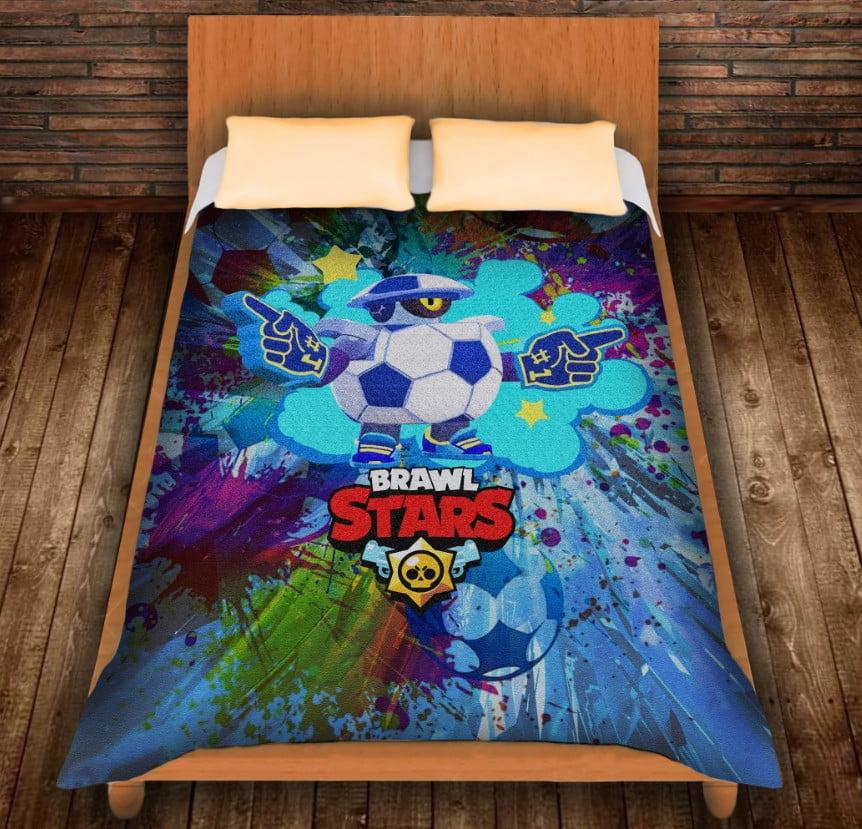 Плед з 3D принтом - Бравл Старс Дерилл футболіст/ Daryll Football 2020 Brawl Stars