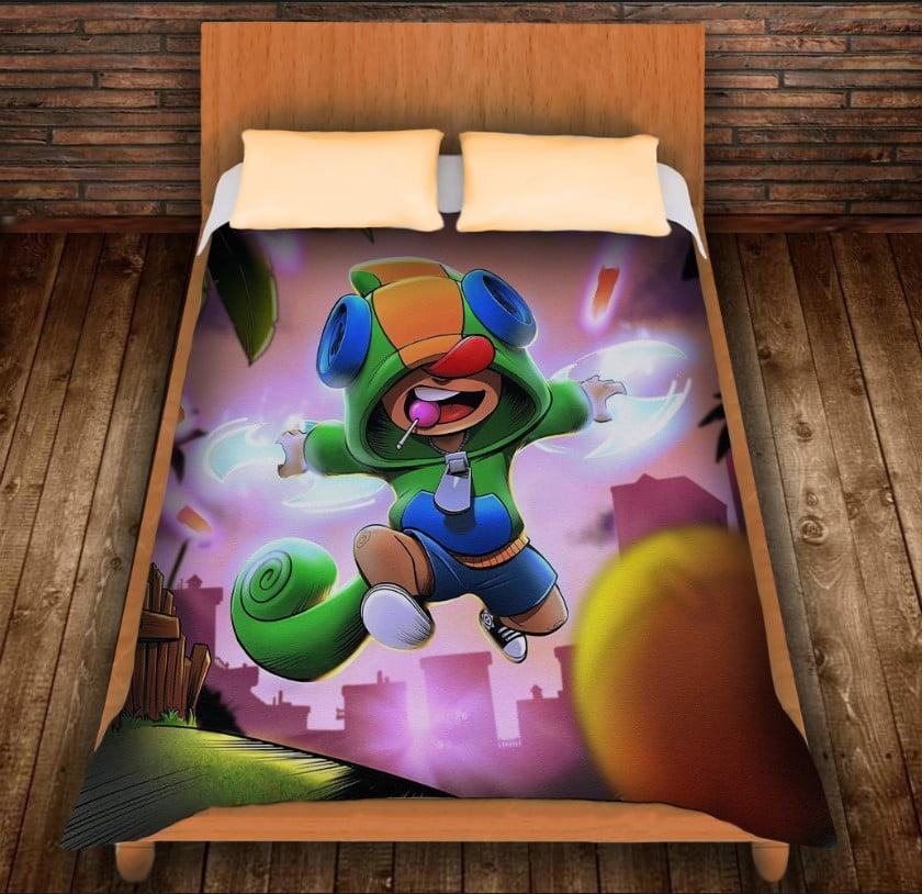 Плед з 3D принтом -Leon Jump  brawl stars