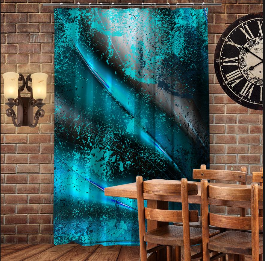 Штори 3D з принтом- Blue Dark