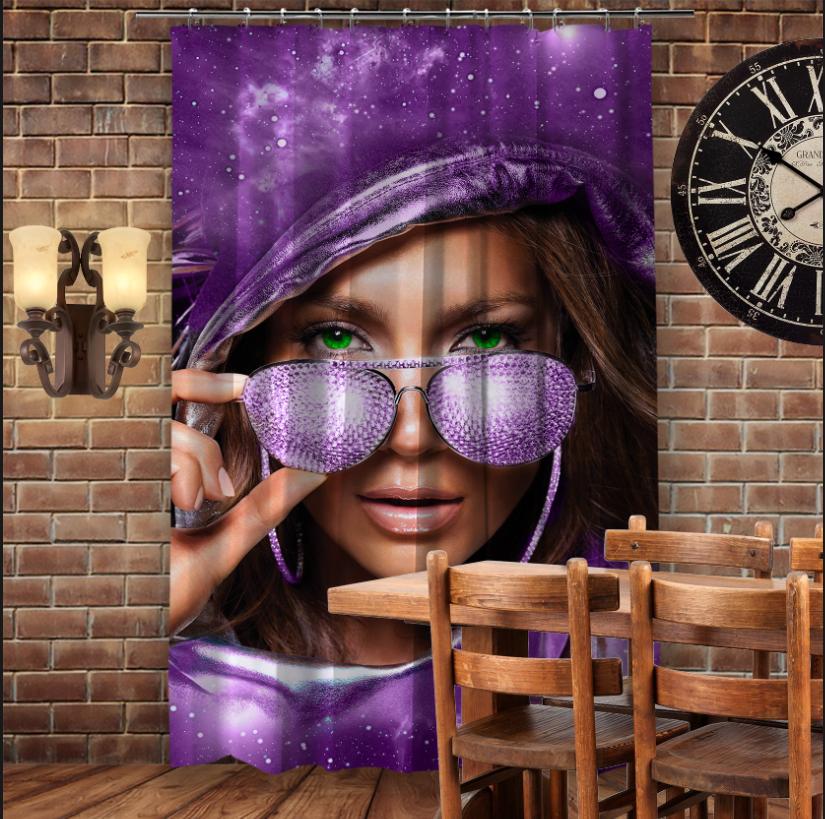 Штори 3D з принтом- Джей Ло