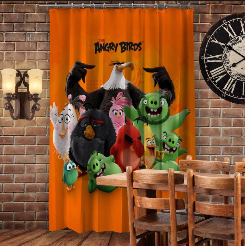 Штори 3D з принтом- Angry birds Команда