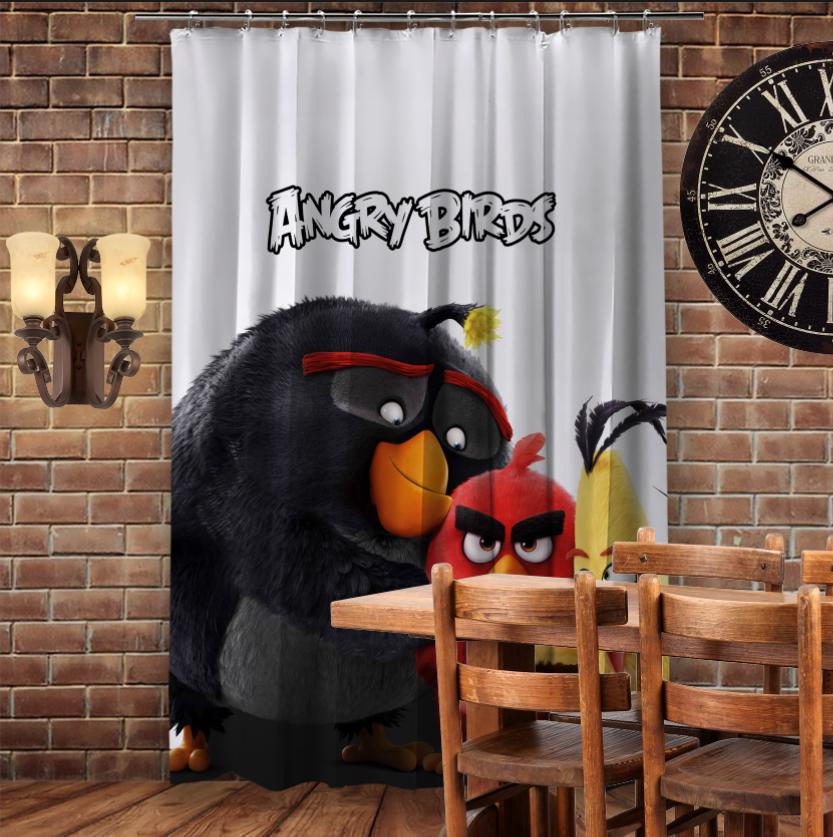 Штори 3D з принтом- Angry Birds Friends