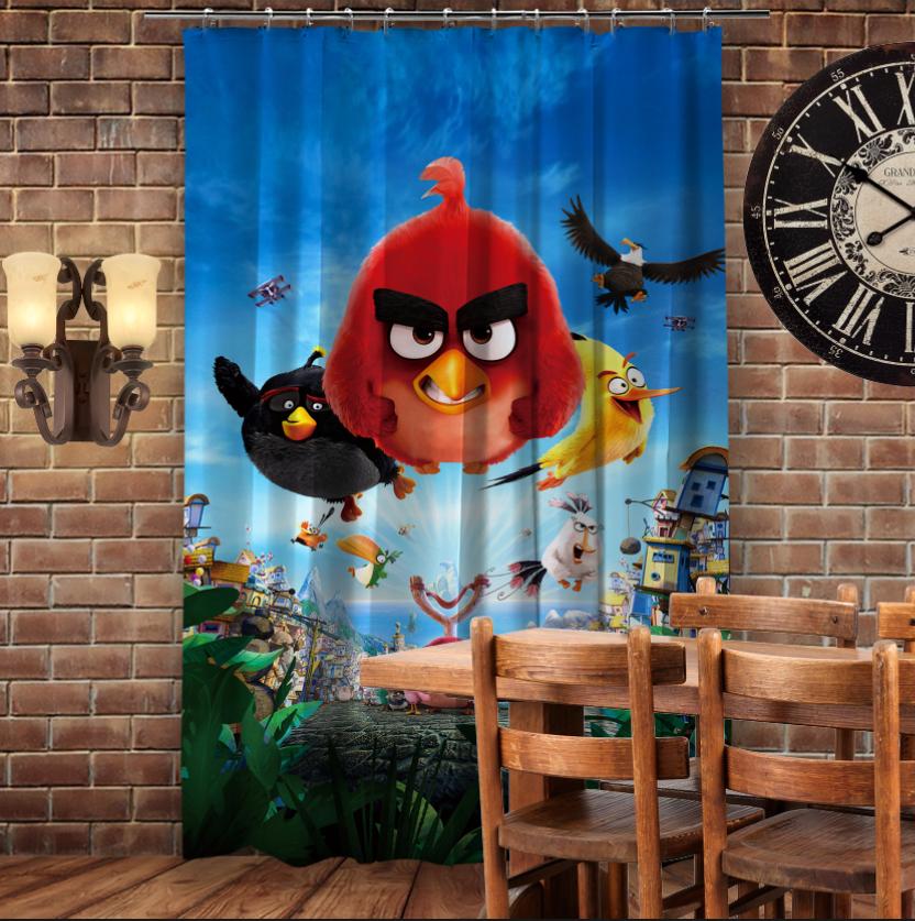 Штори 3D з принтом- Angry Birds attack