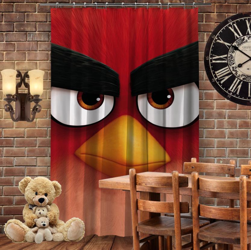 Штори 3D з принтом- Angry Birds Red