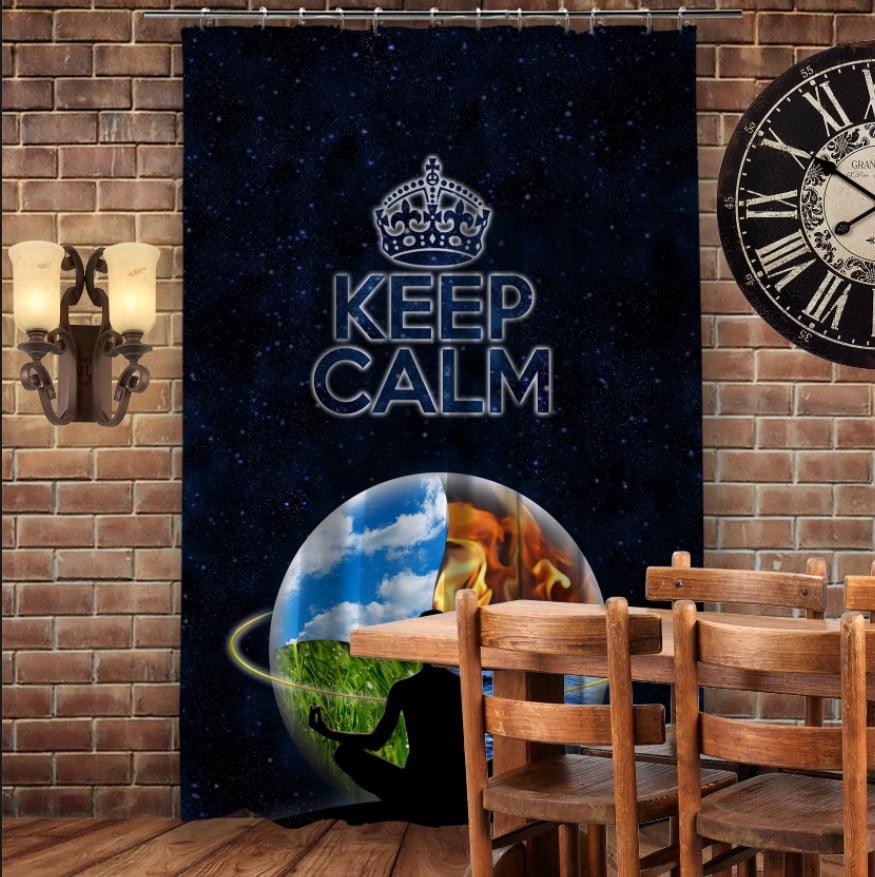 Штори 3D з принтом- Кіп Келм/Keep Calm