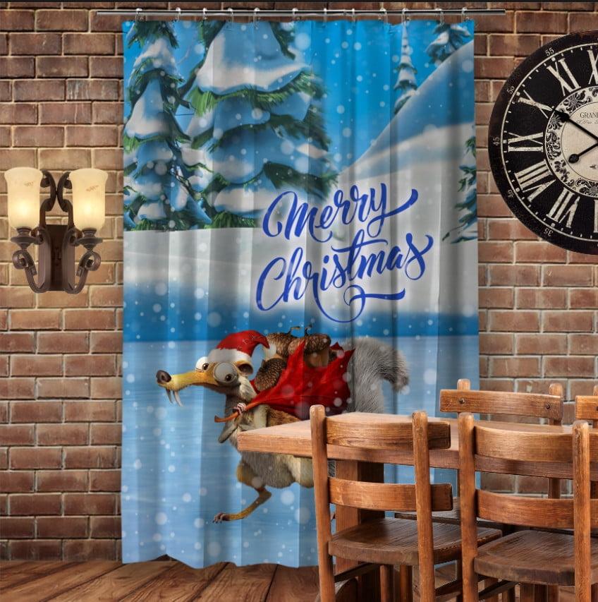 Штори 3D з принтом- Різдвяний Скрет