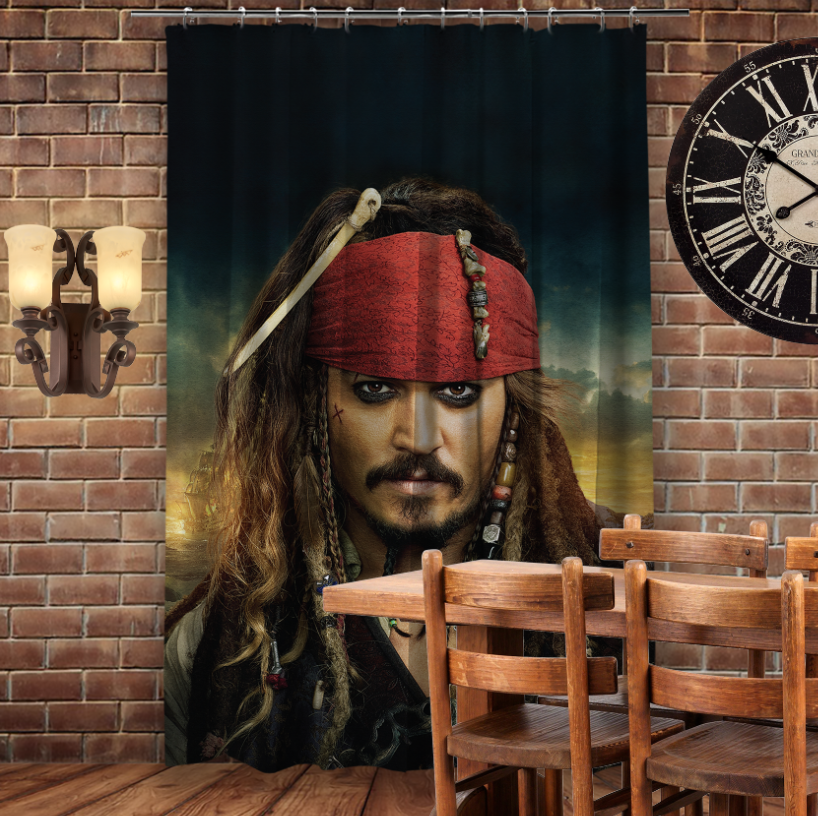 Штори 3D з принтом- Капітан Джек Горобець/Jack Sparrow