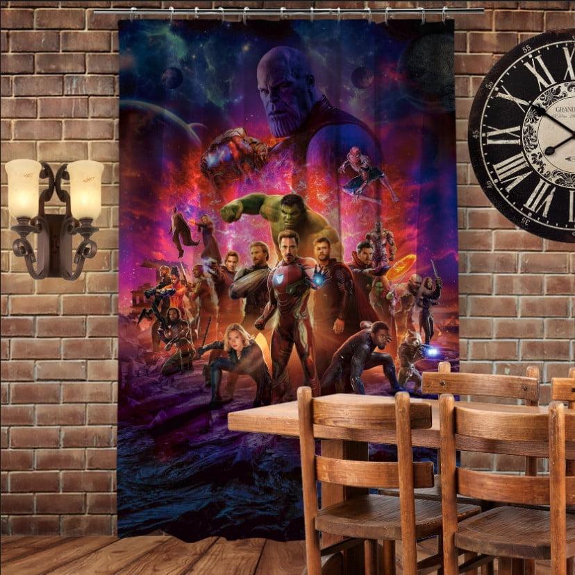 Штори 3D з принтом- Mесники Avengers Endgame