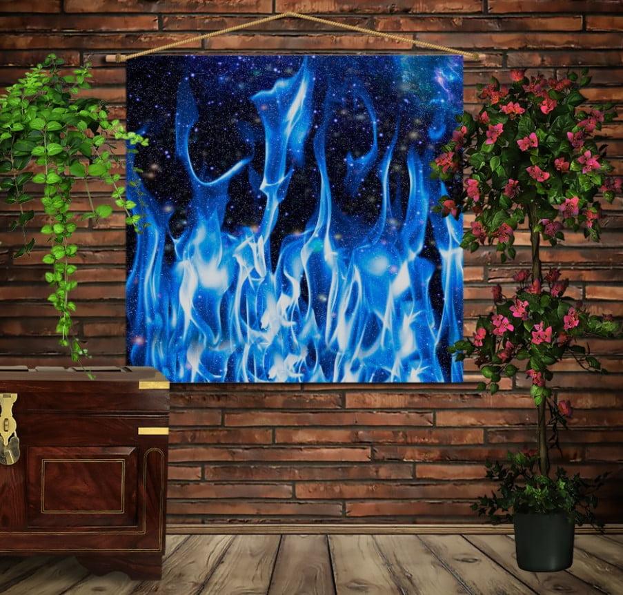 Мобільна картина-постер на тканині з 3D з принтом Космічний вогонь