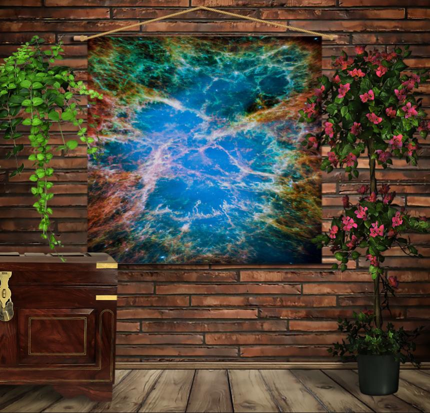 Мобільна картина-постер на тканині з 3D з принтом Крабовидна туманність