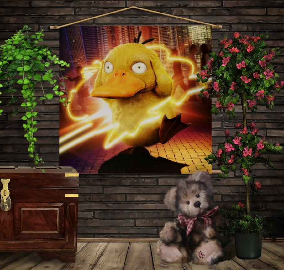 Мобільна картина-постер на тканині з 3D з принтом Покемон Пси Даг