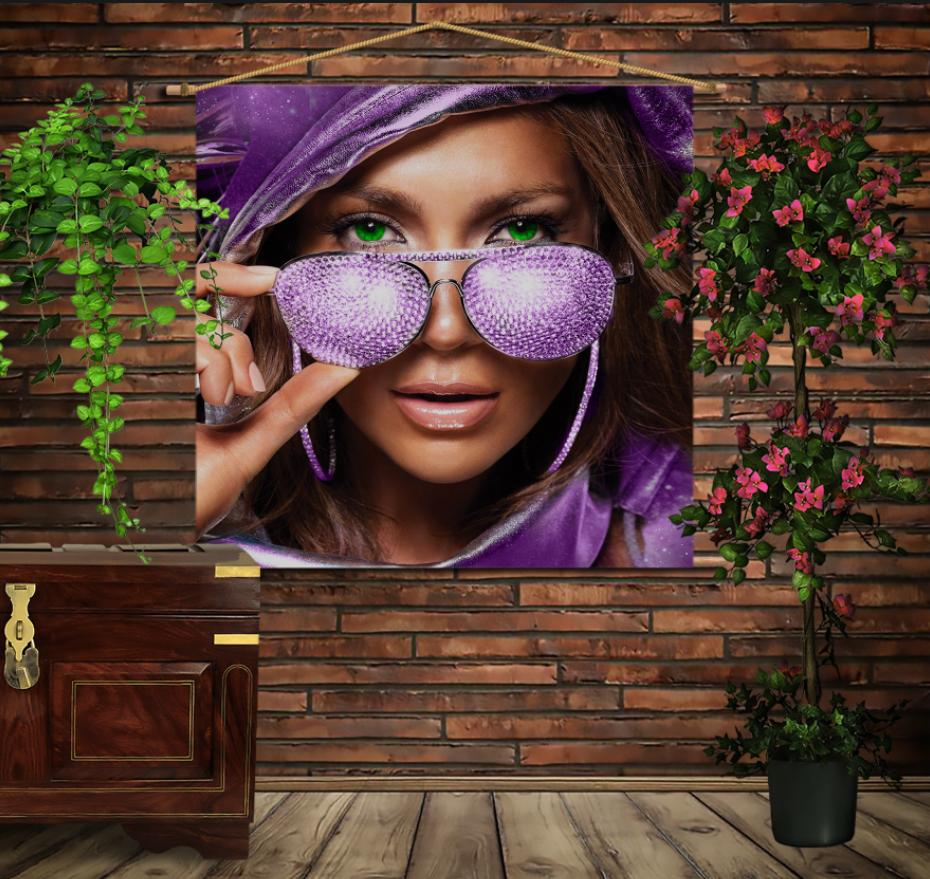 Мобільна картина-постер на тканині з 3D з принтом Джей Ло
