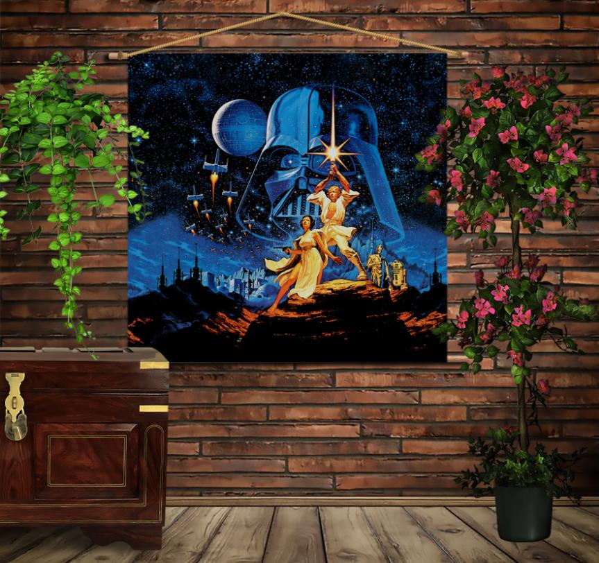 Мобільна картина-постер на тканині з 3D з принтом Зоряні війни