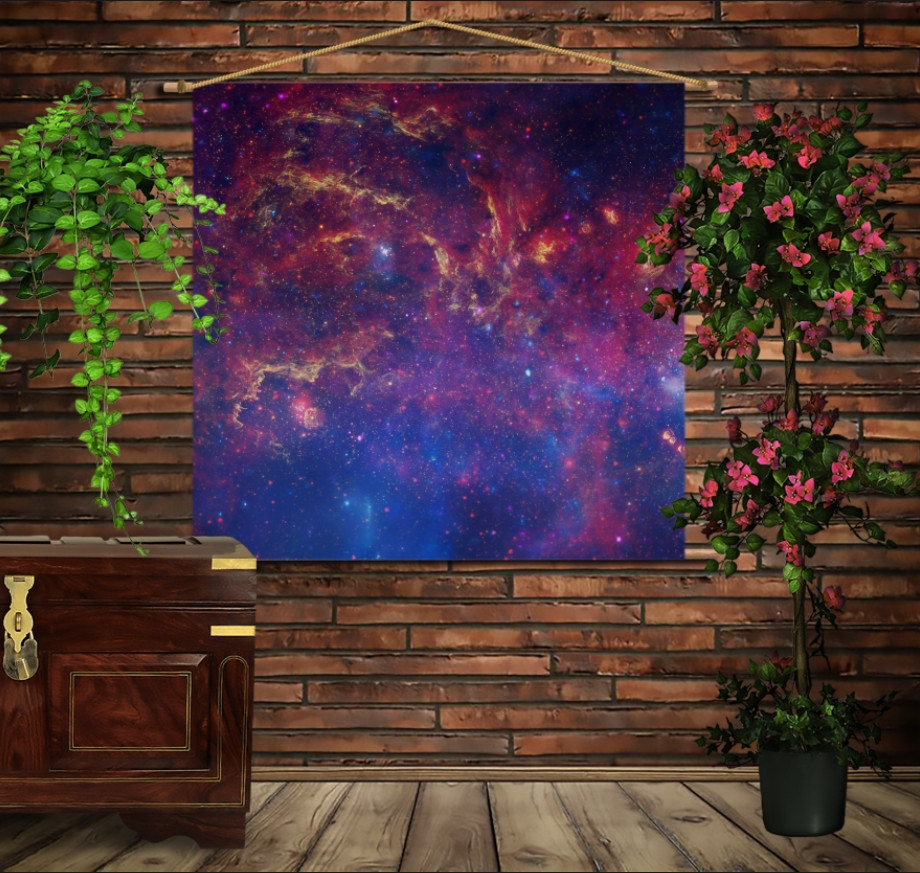 Мобільна картина-постер на тканині з 3D з принтом Космос 02