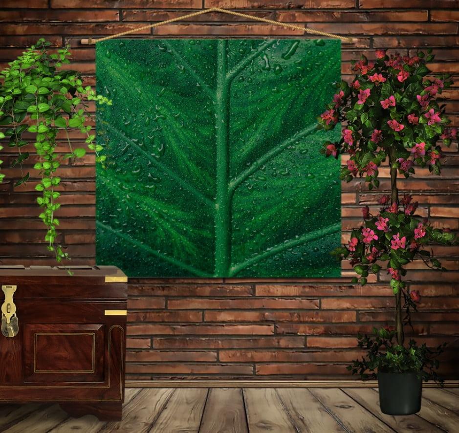 Мобільна картина-постер на тканині з 3D з принтом Лист