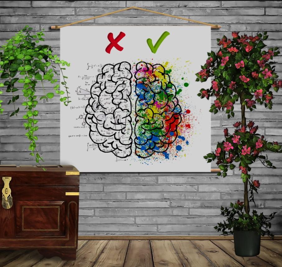 Мобільна картина-постер на тканині з 3D з принтом No Emotion