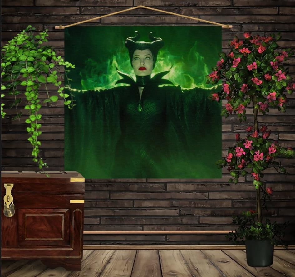 Мобільна картина-постер на тканині з 3D з принтом Малефісента Магія