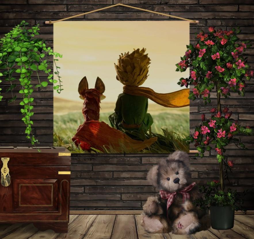 Мобільна картина-постер на тканині з 3D з принтом Маленький принц
