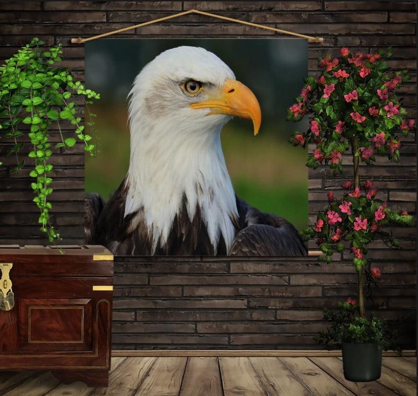 Мобільна картина-постер на тканині з 3D з принтом Big Face Eagle