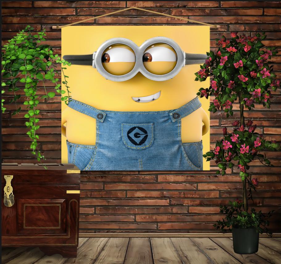 Мобільна картина-постер на тканині з 3D з принтом Маленький Міньон