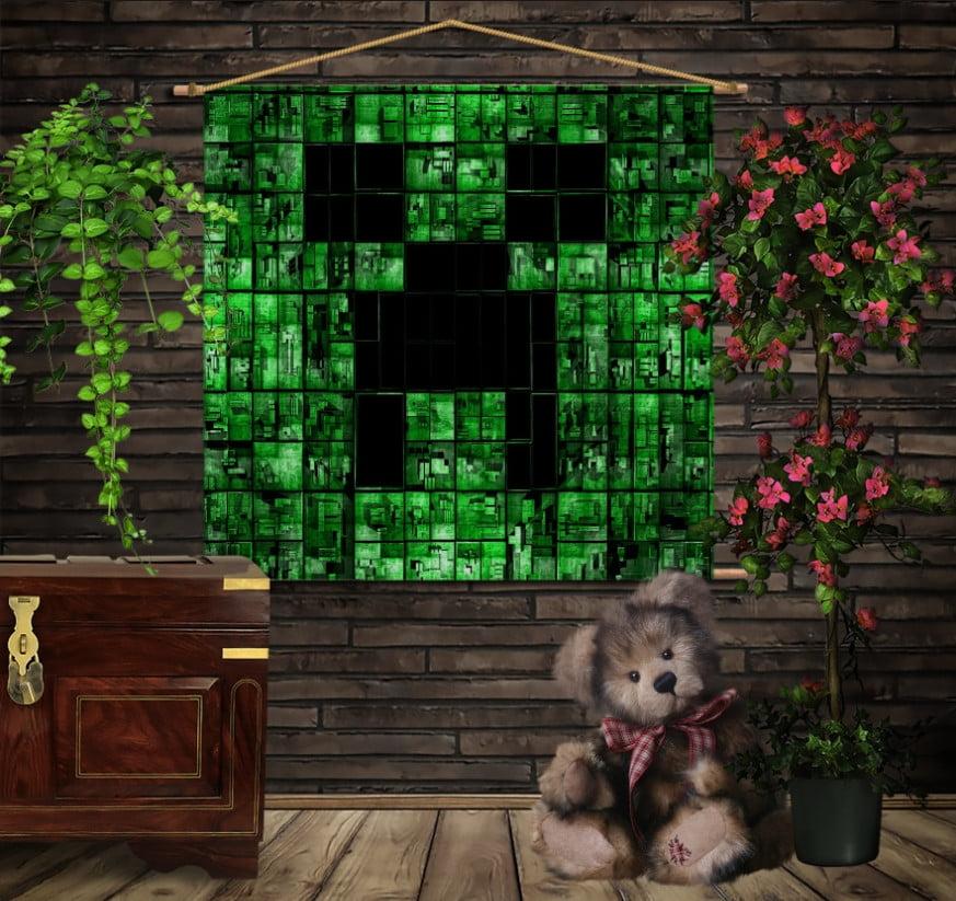 Мобільна картина-постер на тканині з 3D з принтом  Minecraft My Life